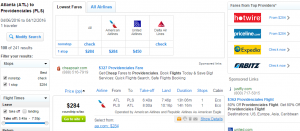 Atlanta to Turks & Caicos: Fly.com Results Page