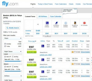 Boston-Tokyo: Fly.com Search Results