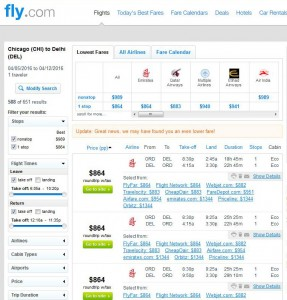 Chicago-Delhi: Fly.com Search Results