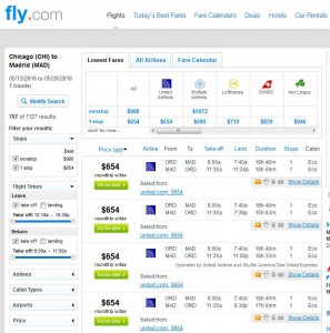 Chicago-Madrid: Fly.com Search Results