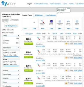 Cleveland-San Juan: Fly.com Search Results