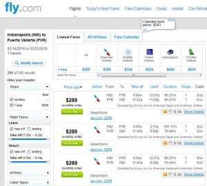 Indianapolis-Puerto Vallarta: Fly.com Search Results