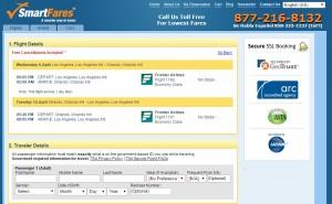 LA to Orlando: SmartFares Booking Page