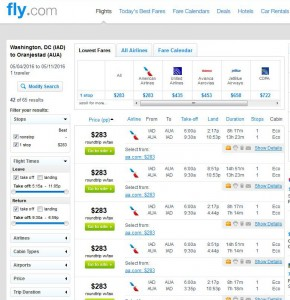 Washington, D.C.-Aruba: Fly.com Search Results