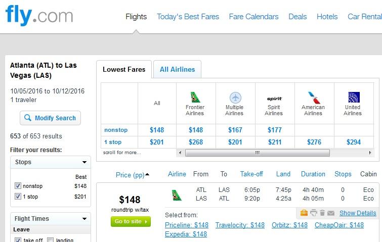 148 Atlanta To Las Vegas Nonstop In Fall R T Fly