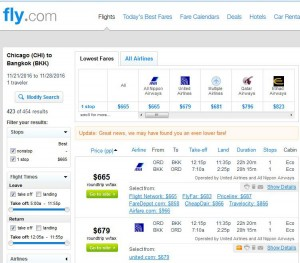 Chicago-Bangkok: Fly.com Search Results
