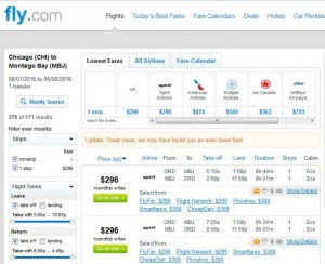 Chicago-Montego Bay: Fly.com Search Results