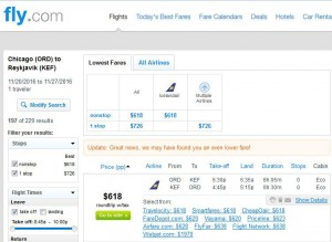 Chicago-Reykjavik: Fly.com Search Results