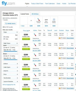 Chicago-St. Thomas: Fly.com Search Results