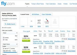 Dallas-Port-au-Prince: Fly.com Search Results