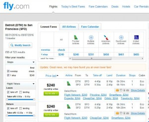 Detroit-San Francisco: Fly.com Search Results