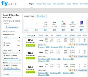 Detroit-San Juan, Puerto Rico: Fly.com Search Results