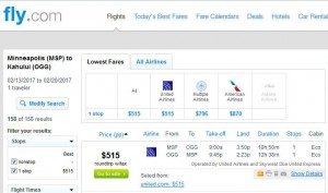 Minneapolis-Kahului, Maui: Fly.com Search Results