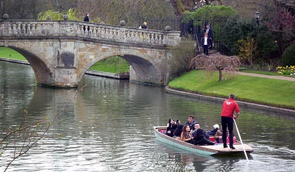 Punting on the River Cam (Godfrey Hall)