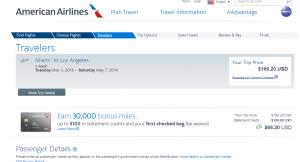 Miami to LA: Fly.com Results Page