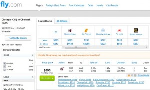 Chicago-Chennai: Fly.com Search Results