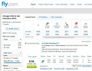 Chicago-San Francisco: Fly.com Search Results