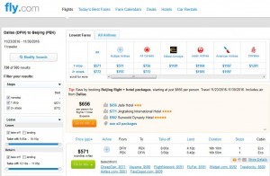 Dallas-Beijing: Fly.com Search Results