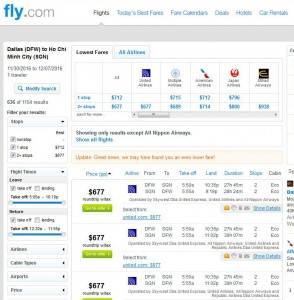 Dallas-Ho Chi Minh City: Fly.com Search Results