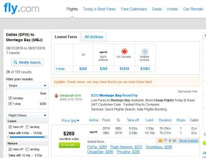 Dallas-Montego Bay, Jamaica: Fly.com Search Results