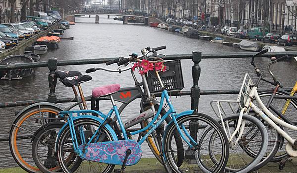 Bikes Parked on Bridge over Canal (Sasha Arms)