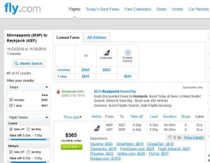 Minneapolis-Reykjavik: Fly.com Search Results