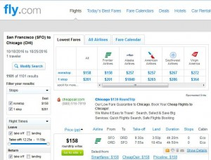 San Francisco-Chicago: Fly.com Search Results