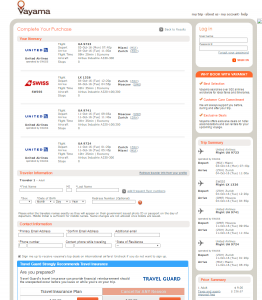 Miami to Moscow: Vayama Booking Page