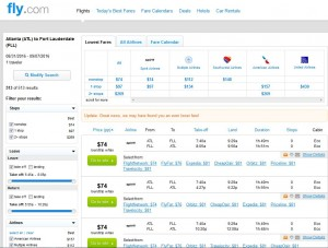Atlanta-Fort Lauderdale: Fly.com Search Results