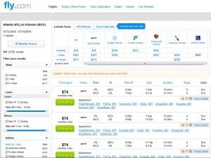 Atlanta-Orlando: Fly.com Search Results