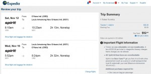 CHI-MSY: Expedia Booking Page