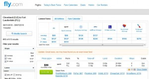 CLE-FLL: Fly.com Search Results