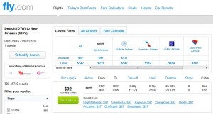 DTW-MSY: Fly.com Search Results