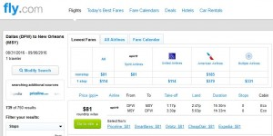 Dallas-New Orleans: Fly.com Search Results