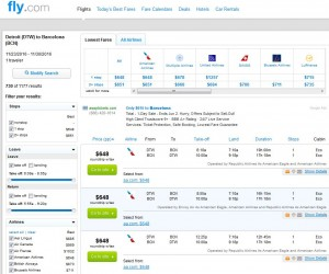Detroit-Barcelona: Fly.com Search Results