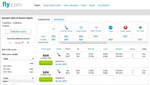 Houston-Munich: Fly.com Search Results