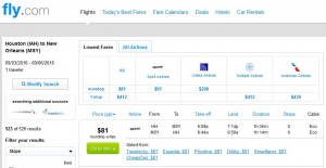 IAH-MSY: Fly.com Search Results