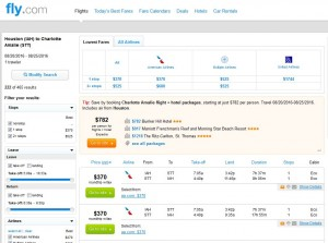 IAH-STT: Fly.com Search Results