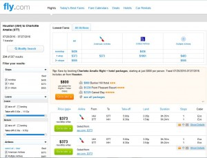 IAH-STT: Fly.com Search Results ($373)