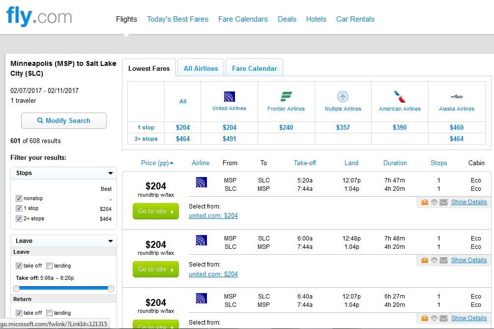 Flights From Minneapolis To Salt Lake City Utah