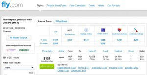 Minneapolis-New Orleans: Fly.com Search Results