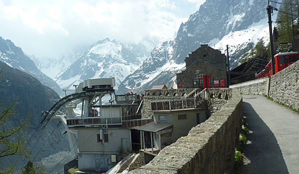 Train & Cable Car Station at Mer de Glace (Godfrey Hall)