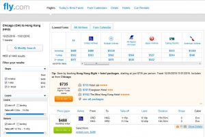 CHI-HKG: Fly.com Search Results ($488)