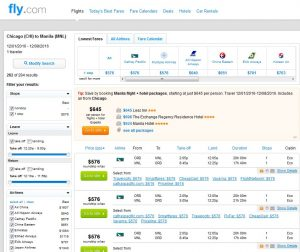 CHI-MNL: Fly.com Search Results