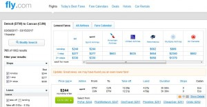 DTW-CUN: Fly.com Search Results