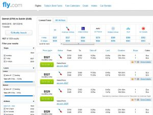 DTW-DUB: Fly.com Search Results ($527)