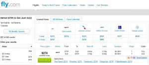 DTW-SJU: Fly.com Search Results