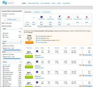 IAH-HKG: Fly.com Search Results ($471)