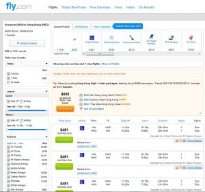 IAH-HKG: Fly.com Search Results ($481)