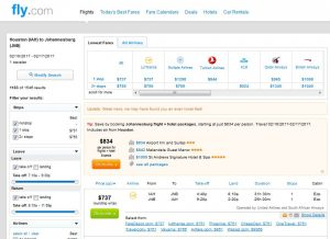 IAH-JNB: Fly.com Search Results ($751)
